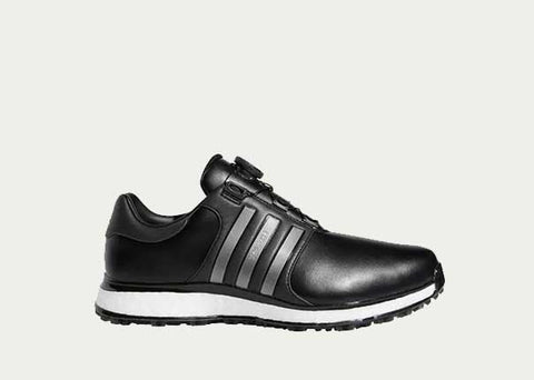 RESTOCKED! Men's Adidas Tour360 XT Boa Spikeless Golf Shoe - BLACK/SILVER/WHITE