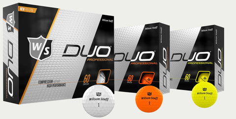 Two Dozen Wilson Duo Professional Golf Balls - Choose from White, Yellow, Orange