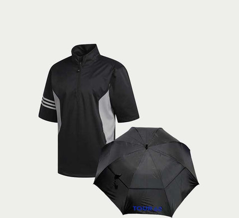 Adidas Climaproof Jacket with Tour 60 Umbrella Combo