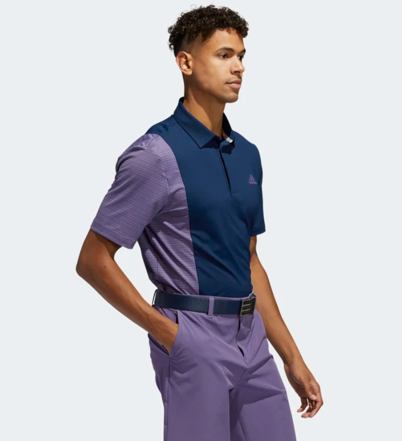 ULTIMATE365 BLOCKED PRINT POLO SHIRT