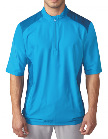 ADIDAS GOLF - BLUE - Club Short Sleeve Wind Jacket