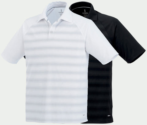 MEN'S SHIMA SHORT SLEEVE GOLF POLO (2 Pack - White Polo & Black Polo)