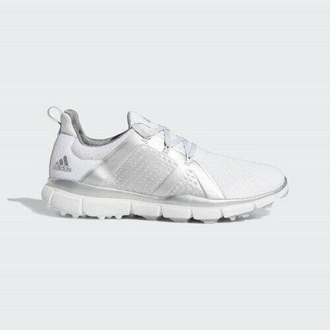 Adidas Climacool Cage Women's Golf Shoes - White/Silver/Grey
