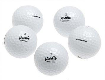 5 Dozen Noodle Mix Golf Balls - Assorted Styles (recycled)