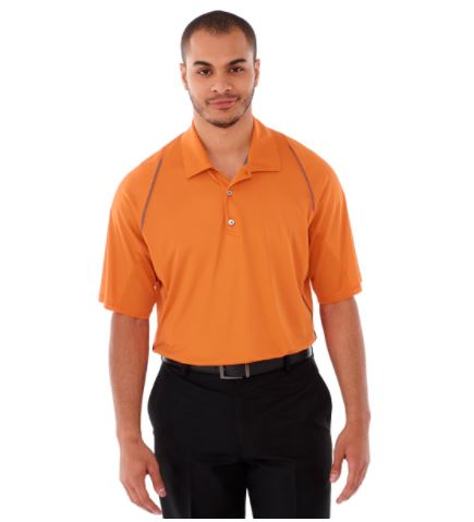 2 x Trimark Solway Short Sleeve Orange Golf Polo