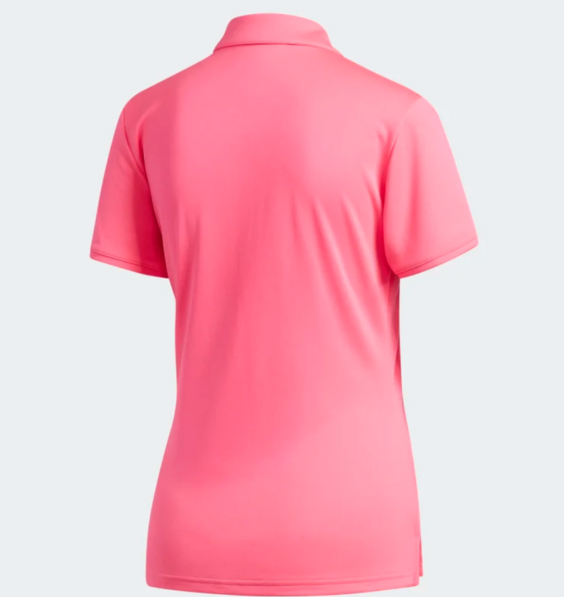 Adidas Womens Tourney SS Polo Solar Pink