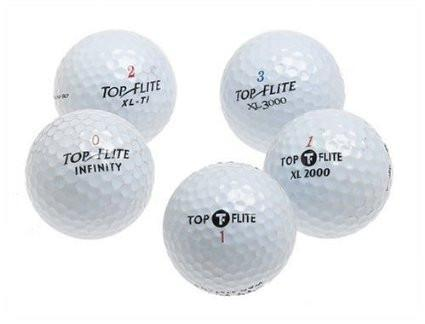 5 Dozen Top-Flite Golf Balls - Assorted Styles (recycled)