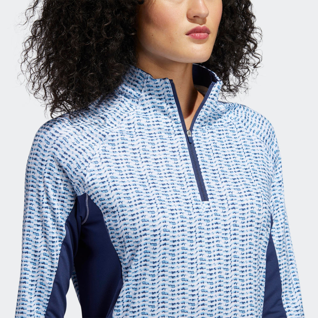 Ladies Adidas AEROREADY UV LONG SLEEVE POLO SHIRT FJ4913