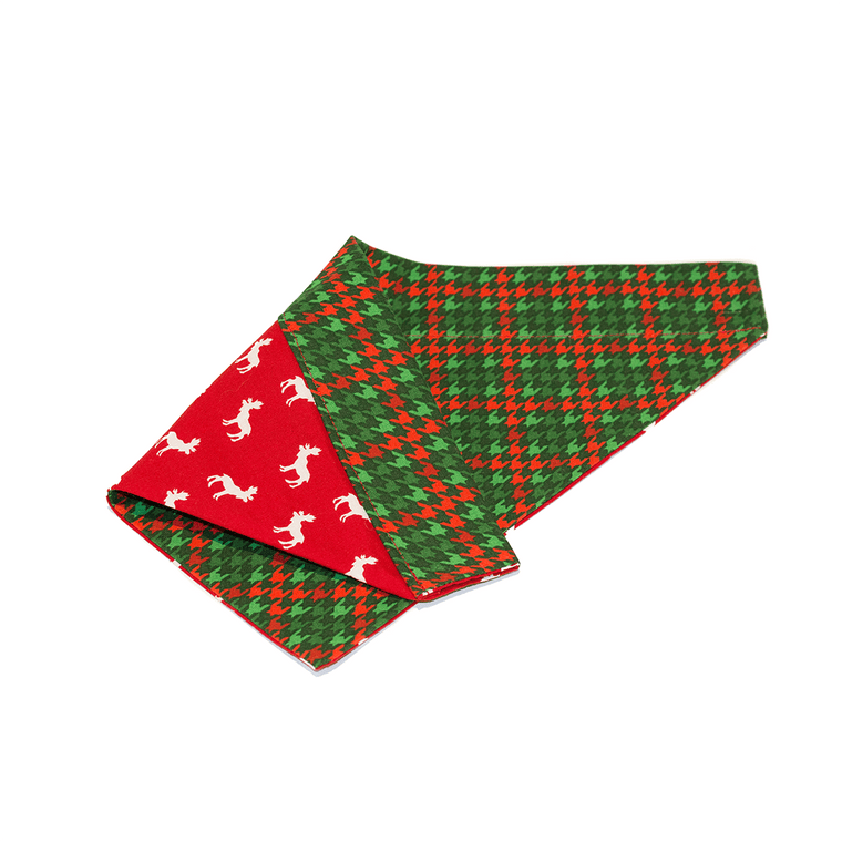 """A Green Christmas"" Reversible Bandana"