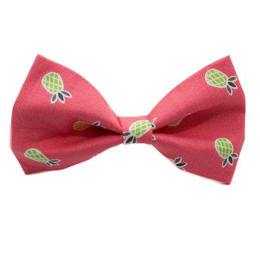 Pineapple Dog Bow Tie