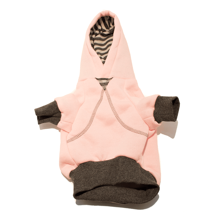 Pink Striped Dog Hoodie