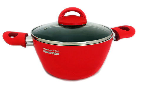 "FLONAL GEMMA INDUCTION STOCK POT 9.5"" made in Italy"