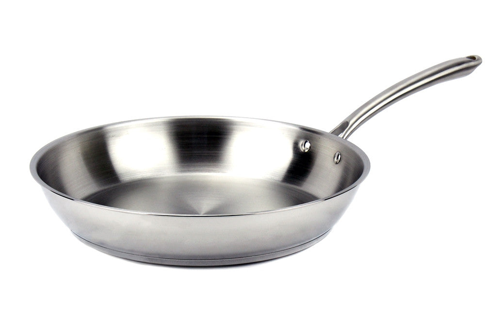 Elegna Stainless Steel Induction Fry Pan, 13""