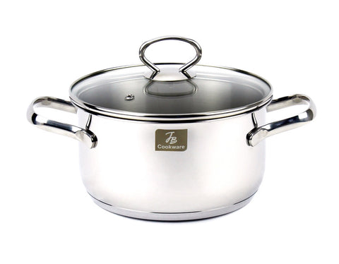 Charment Stainless Steel Induction Stock Pot, 2.5 Quart,7""