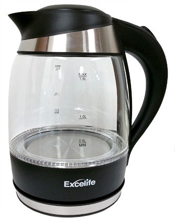 Excelife 17230 Excelife Electric Glass Kettle, 1.8 L