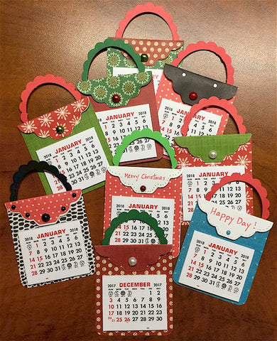 Mini Handbag Calendar Magnet - Cute!