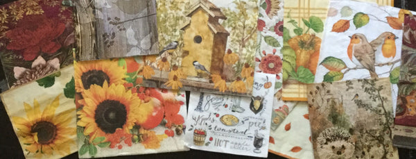 Autumn Thanksgiving Decoupage Napkins
