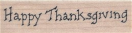 Happy Thanksgiving Rubber Stamp 2327D
