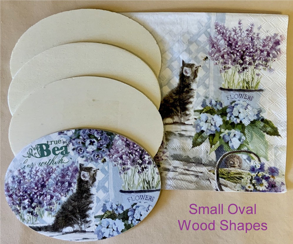 30057004 Unfinished Small Oval Wood Shape Pack of 2