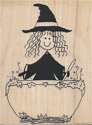 Sandy Witch Rubber Stamp 4006N