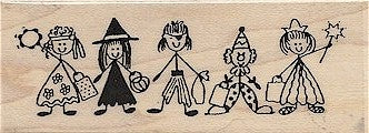 Tricky Bunch Rubber Stamp 2310H