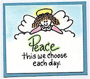 Peace Rubber Stamp 2542D