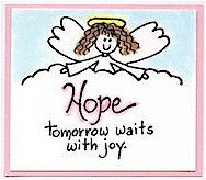 Greetings Angel Rubber Stamp 2537F