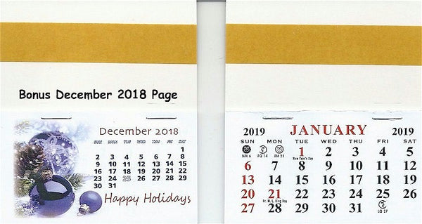 2019 Self-Stick Easel Back Calendars