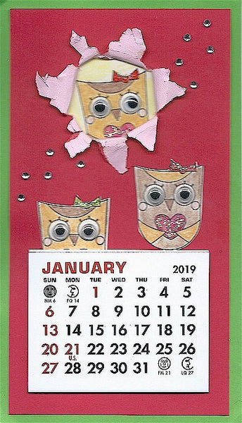Large 2019 Self-Stick Calendar Pads