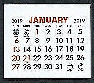 Small 2019 Self-Stick Calendar Pads