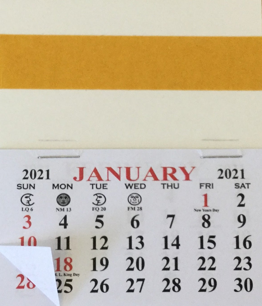 2021 Self-Stick Easel Back Calendars