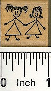 Girlfriends Rubber Stamp 2103B
