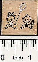 Babies Rubber Stamp 2106C