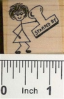 Stamped By 1 Rubber Stamp 2110D