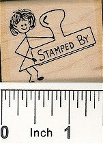 Stamped by 2 Rubber Stamp 2111D