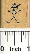 Boy with Cap 1 Rubber Stamp 2115B