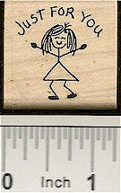 Girl Just For You Rubber Stamp 2126D