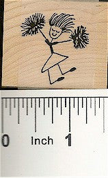 Cheerer Girl Rubber Stamp 2133D