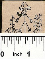 Scarecrow Rubber Stamp 2141D