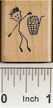 Basketball Guy Rubber Stamp 2169C