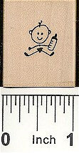 Baby Bottle Rubber Stamp 2175C