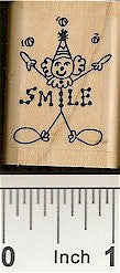 Clown Rubber Stamp 2181C
