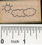 Sun Clouds Rubber Stamp 2204D