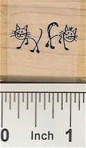Cats Rubber Stamp 2206C