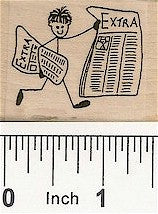 Newsboy Rubber Stamp 2207D