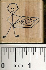 Pizza Guy Rubber Stamp 2210D