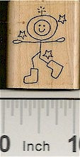 Space Guy Rubber Stamp 2216D