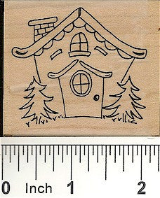 House #1 Rubber Stamp 2217F