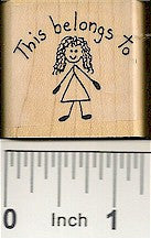 Belongs To Girl Rubber Stamp 2224D