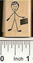 Businessman Rubber Stamp 2229C